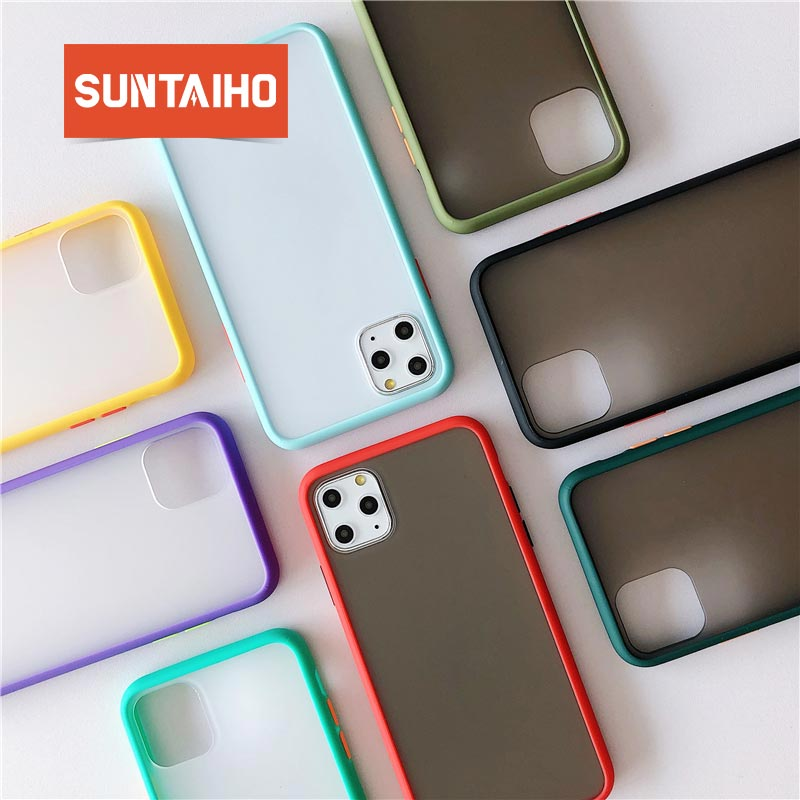 Suntaiho Matte Transparent Shockproof Case For IPhone 11 Pro MAX X XR XS Max 6s 7 8 6 Plus Silicone Shockproof Bumper Phone Cove