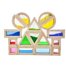 16 шт детская игрушка креативная акриловая Радужная развивающая