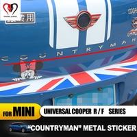 3D Metal Car Emblem Sticker Countryman Word Badge Body Sticker Decal For mini cooper F60 R60 Countryman Car styling Accessories