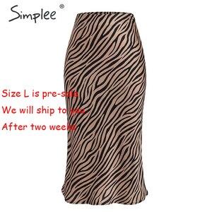 Image 5 - Simplee paski zebry damskie spódnica trzy czwarte wysokiej talii prosty nadruk zwierzęta kobiece dół spódnica wypoczynek nocna impreza klubowa spódnica damska