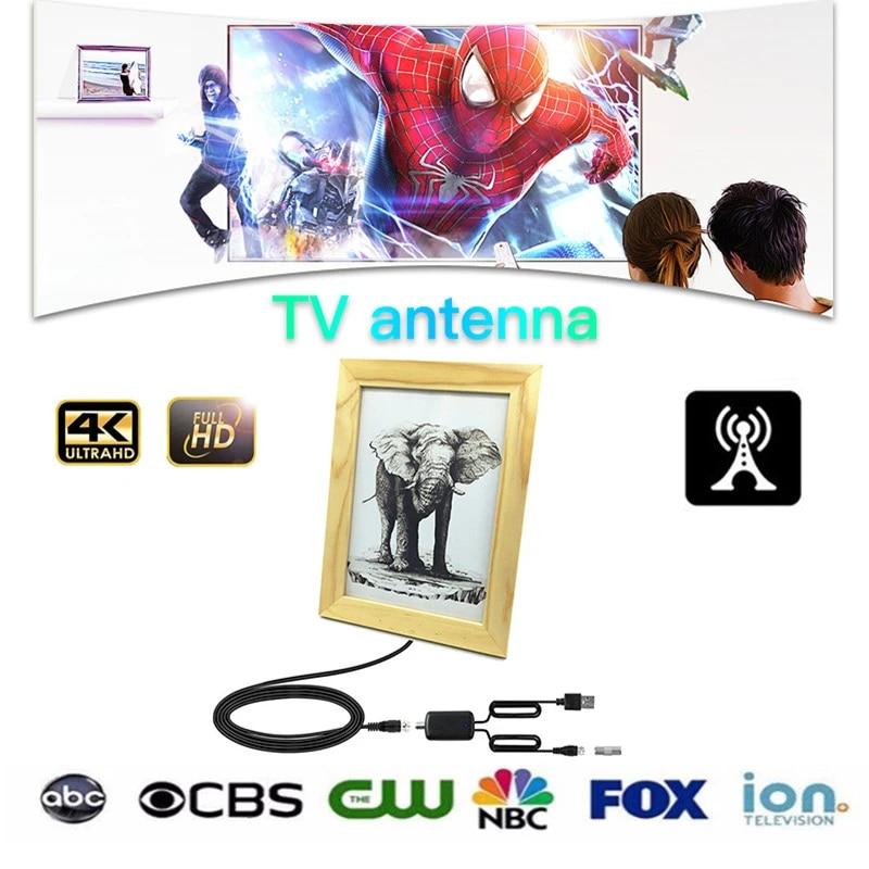 Digital HD TV Antenna tv receiver indoor DIY frame antenna with Signal  Amplifier Booster DVB T2 4k Clear Satellite receiver Dish|TV Antenna| -  AliExpress