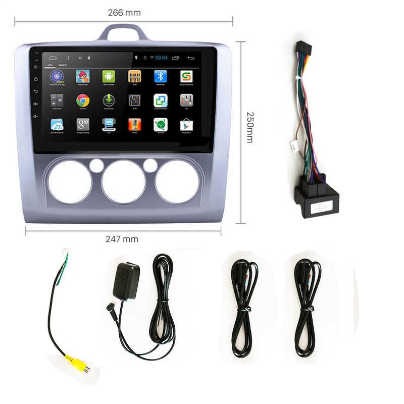 Rádio automotivo 2din com android 8.1, rádio para carro com ford focus 2 exi mt 2004 2005 2006-2008 2009 unidade de cabeça da tela gps 2010 2011 2012