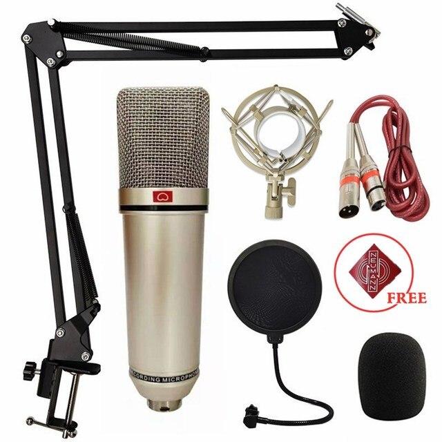 ميكرفون تسجيل U87 ميكروفون مكثف ميكروفون مهني للكمبيوتر لايف الصوتية بودكاست الألعاب استوديو الغناء