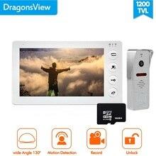 Dragonsview 7 Inch Video Deurtelefoon Intercom Systeem Record Bewegingsdetectie Groothoek Deurbel Met Camera Waterdichte Hoes