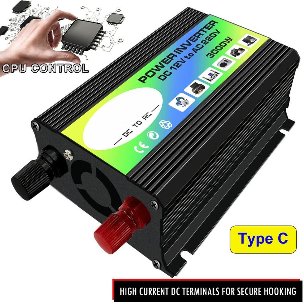 cheapest 3000W 12V to 220V 110V Car Power Inverter Converter Charger Adapter Dual USB Voltage Transformer Modified Sine Wave