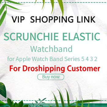 US STOCK For Dropship Wholesale Scrunchie Elastic Watch Straps Watchband for Apple Band Series 6 5 4 3 2 - discount item  50% OFF Watches Accessories