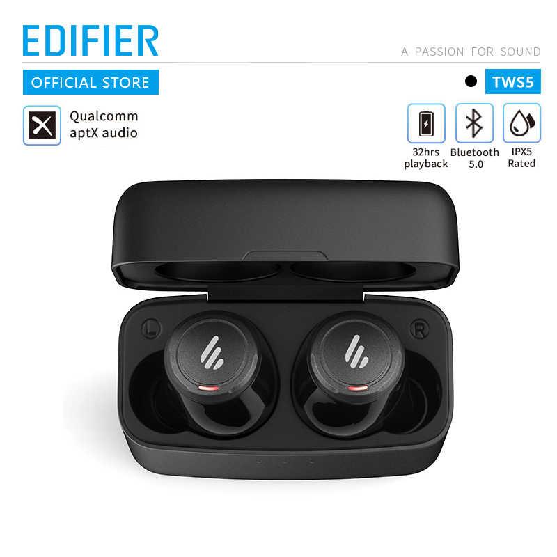 EDIFIER TWS5 Bluetooth V5.0 słuchawki tws aptX dekodowanie dźwięku IPX5 wodoodporna kontrola dotykowa słuchawki bezprzewodowe bluetooth