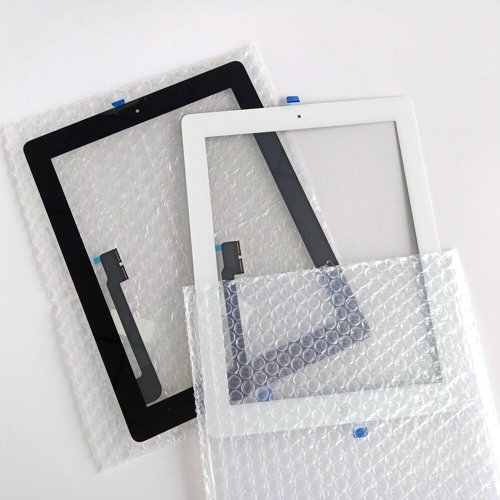 Nova tela de toque para ipad 3 4 ipad3 ipad4 a1416 a1430 a1403 a1458 a1459 a1460 lcd exterior digitador sensor substituição do painel vidro|Painéis e LCDs p/ tablet|   -