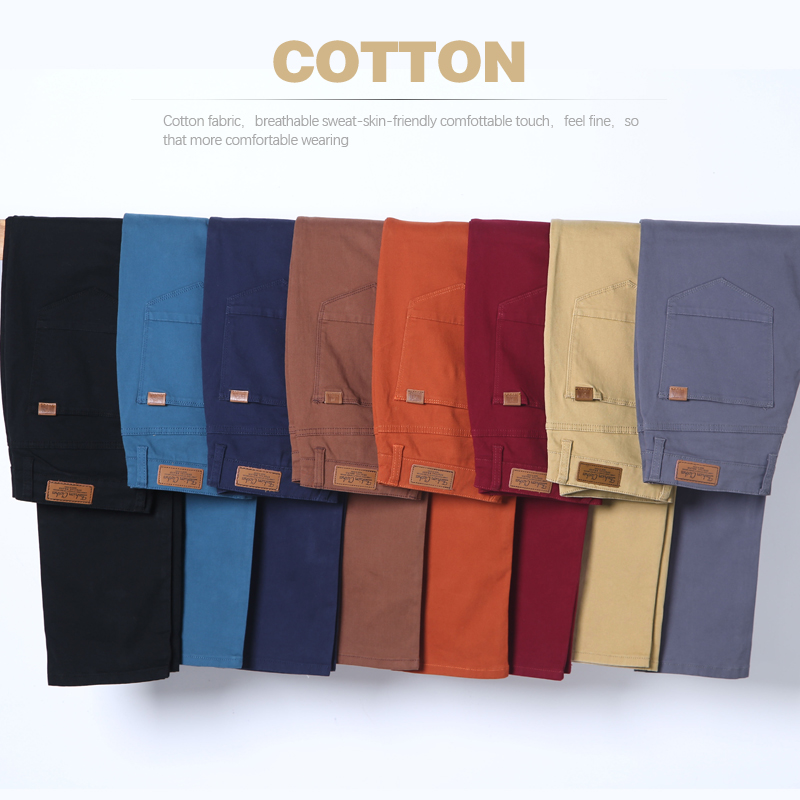 Classic Men's Khaki Casual Pants 2019 New Business Fashion Slim Fit Cotton Stretch Trousers Male Brand Clothing