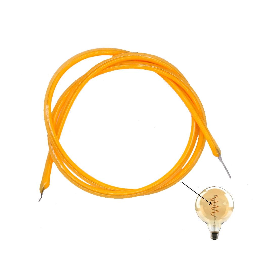DC3V 130mm 300mm 2200K 10pcs Edison Bulb Filament Lamp Parts LED Chip Incandescent Light Accessories Diodes Flexible Filament