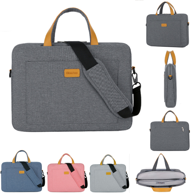 Нейлоновая сумка на плечо для ноутбука 13, 14, 15,6 дюймов, сумка чехол для Xiaomi air, Macbook, Air Pro, Lenovo, Dell, HP, Asus, Acer, чехол для ноутбука