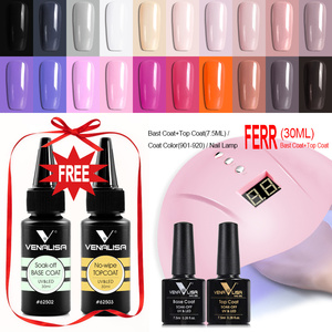 Image 2 - Venalisa 2020 New nail polish gel kit led nail lamp manicure base coat topcoat 7.5ml color gel polish full set