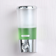 Wall-mounted Manual Soap Dispensers Single/Double Chamber Shampoo Box Liquid Rest Room Washroom Toilet Holder