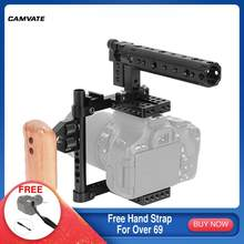 Camvate Camera Cage Rig Voor Canon 60D/70D/7D Mark Ii/5DSR/5DS/Nikon D7000/D7100, d7200, D300S,D610/A99/A58, a7/A7II/GH5/GH4/GH3/GH2