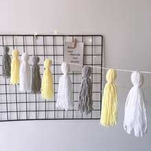 Ins Decoration Nordic Style Lahua Home Soft-fitting Childrens Room Makaron Handmade Wool tassel Hanging Wind Up Toys