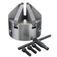 6 inclinação da maxila 112mm 4.5 lathe chuck torno mandril auto centralização sanou K13-100 endurecido reversível ferramenta de montagem para perfuração de madeira