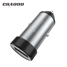 CBAOOO Mini USB Car Charger Fast For Mobile Phone Tablet GPS metal 2A Car-Charger Adapter in