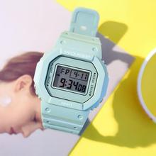 2019 nowy wielofunkcyjny elektroniczny zegarek sportowy kobieta wodoodporny silikonowy zegarek na rękę zegarek z dużą tarczą relogios femininos tanie tanio LVPAI 3Bar RUBBER Klamra Moda casual Cyfrowy Nie pakiet 48mm Luminous Auto data Odporne na wodę SMT001 Prostokąt 20mm