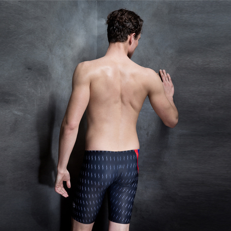 PHINIKISS Men's New Style Swimming Trunks Racing Comfortable Breathable Anti-Chlorine Quick-Dry Boxer Body Hugging Swimming Trun