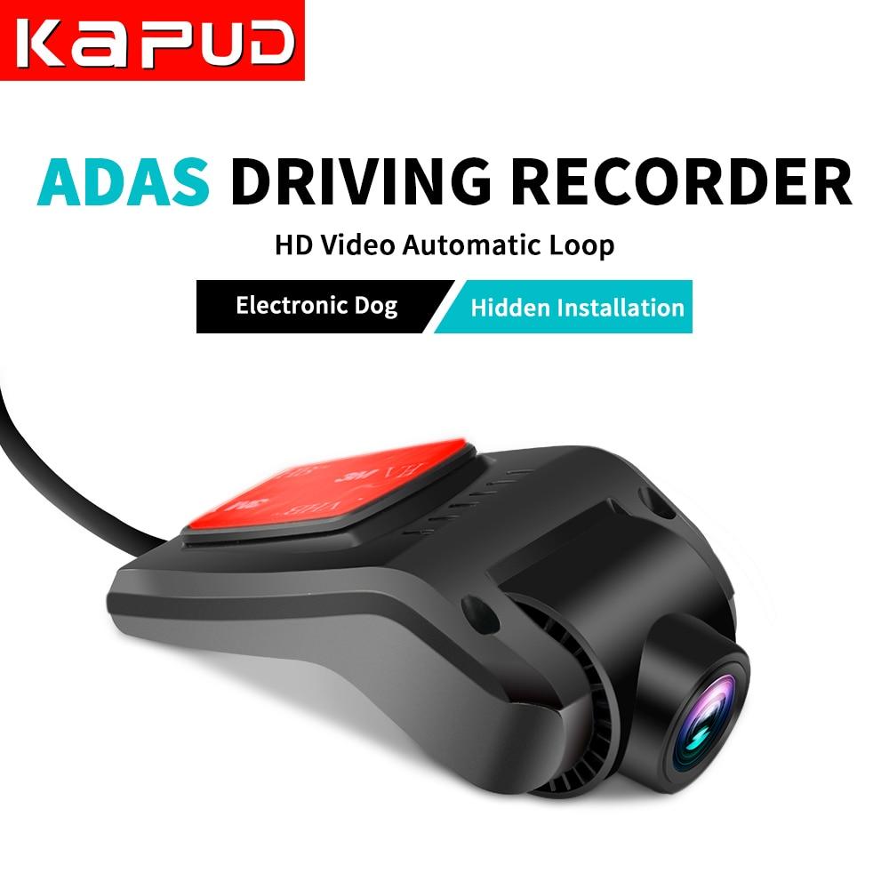 Kapud coche dvr Cámara coche detector telecámara conducción grabadora USB 170 grados grabadora portátil 1080P VERSIÓN NOCTURNA para Android