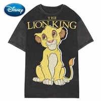 Disney élégant le roi Lion roi de la Jungle dessin animé impression T-Shirt décontracté mode femmes col rond pull à manches courtes T-Shirt hauts
