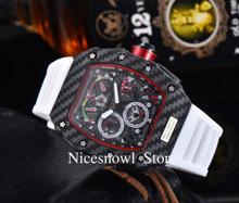 AAA Richard męskie zegarki Top marka luksusowe RM Mille ten sam styl zegarek męski kwarcowy DZ męski zegar Reloj Hombre mężczyźni zegarki tanie tanio Nicesnowl 10Bar CN (pochodzenie) Przycisk ukryte zapięcie Luxury ru Automatyczne self-wiatr 8 6inch Wolfram stali Stoper