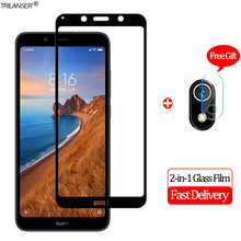 2-in-1 Camera Len Glass Film Redmi 7A Note 7 Screen Protector Protective Redmi7A Xiaomi Tempered