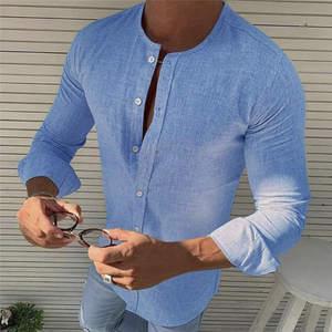 Camisa Lino Manga Larga de beb/é ni/ño