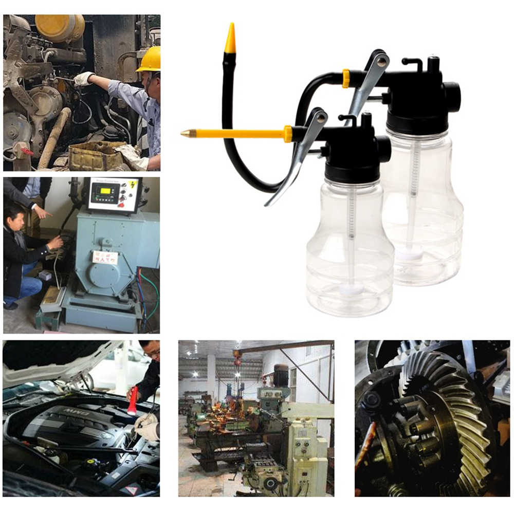 Car Repair Tool Auto Grease Gun Oil Pump 250ml Oil Can Oiler Lubrication Oil Pot Machine Pump High Pressure Filling Equipment