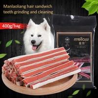 Dog Food Dog Pet Snack Chicken Beef Ring Premium Sandwich Sushi Beef Stick 400g Premium Pet Dog Snacks in Various Tastes