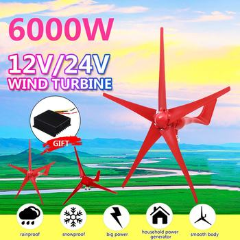 6000W 5 ostrzy turbina wiatrowa 12 V 24 V opcja z kontrolerem wiatru dla domu Camping Streetlight montaż accessorie tanie i dobre opinie STAINLESS STEEL Generator energii wiatru Z Podstawy Montażowej