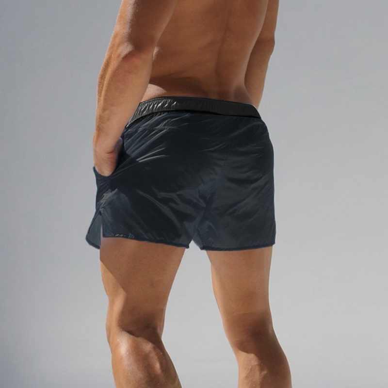 HEFLASHOR Swim Shorts hombre ropa De playa Bermuda Board Shorts verano Sexy Surf traje De baño De secado rápido gimnasio De Bain Homme