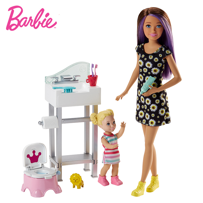Original Children Playset Barbie Doll Baby Care Dolls for Girls Family Role Education Toys for Chlidren Birthday Gift Baby Toys