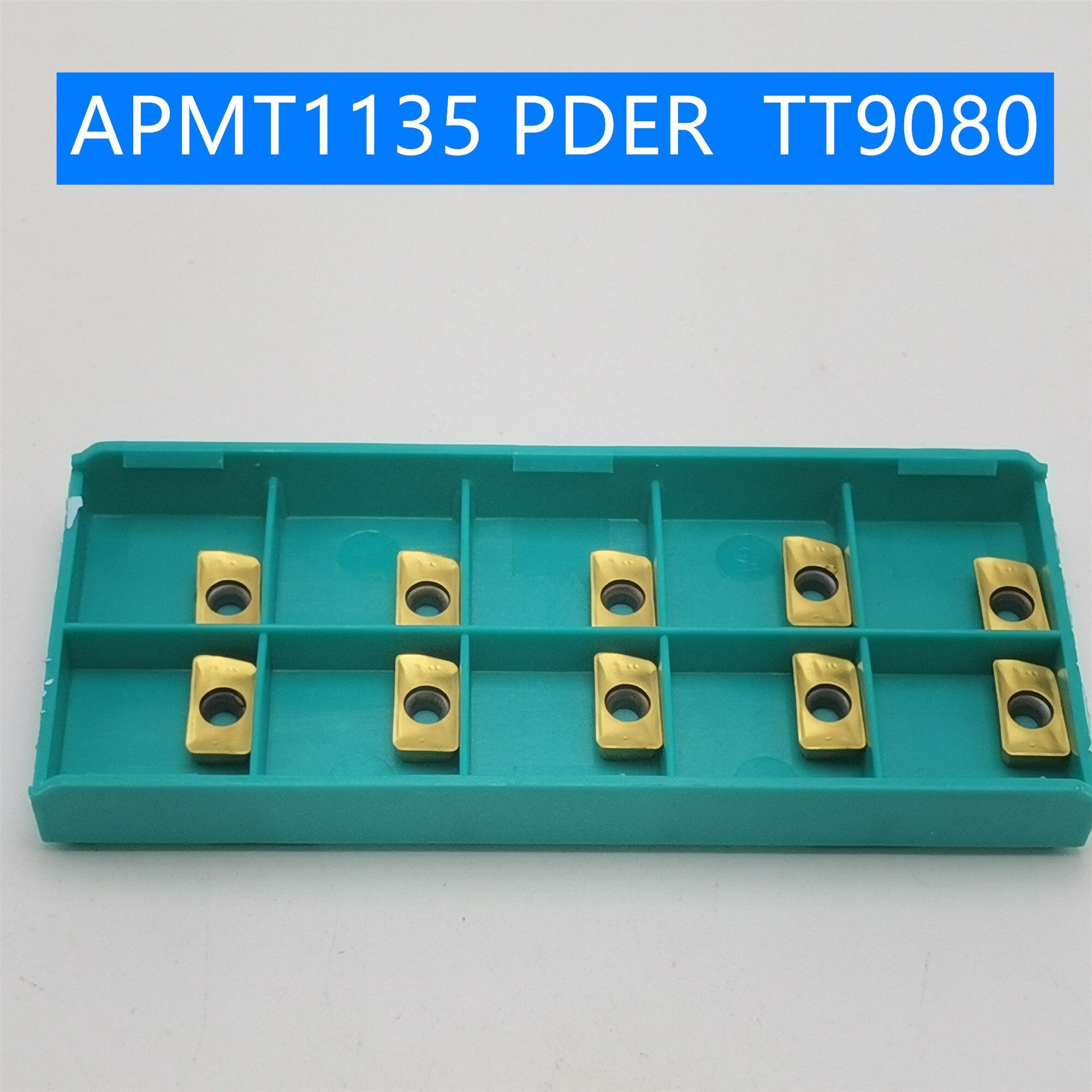 20pcs Tungsten Carbide APMT1135 PDER TT9080 Turning Tool Carbide Insert  APMT 1135 Face Milling Cutter APMT1135PDER Lathe Tool