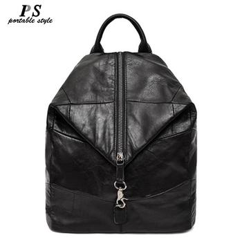 New Women Cow Leather Backpack Large Capacity Soft 100% Genuine Leather School Bags For Ladies High Quality Travel Bags