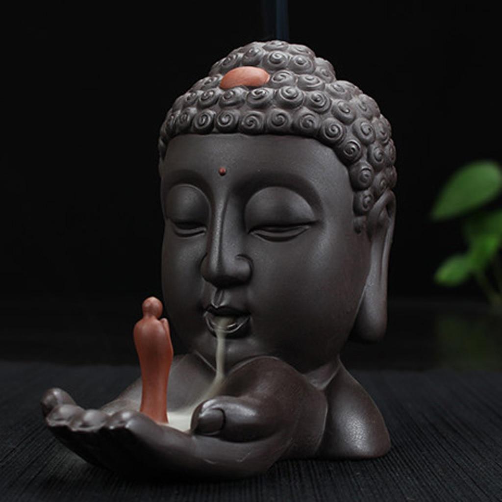 Керамическая коричневая буддистская курильница для статуй статуэтка