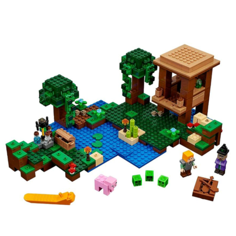 The Witch Hut Building Blocks With Alex Action Figures Compatible Lepining MinecraftINGlys Sets Toys For Children 21133