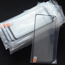 2 ב 1 קדמי חיצוני זכוכית עם OCA סרט החלפה לסמסונג גלקסי S10E S10 בתוספת S8 S9 Note10 8 9 LCD לוח מגע זכוכית עדשה