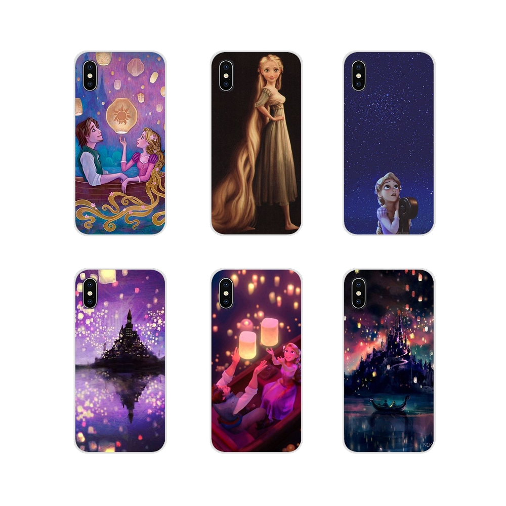 For Apple iPhone X XR XS 11Pro MAX 4S 5S 5C SE 6S 7 8 Plus ipod touch 5 6 Tangled Rapunzel Accessories Phone Cases Covers