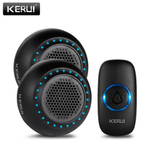 KERUI M523 אלחוטי פעמון ערכת עמיד למים מגע כפתור 32 שירים צבעוני LED אור אבטחת בית חכם פעמוני פעמון אזעקה
