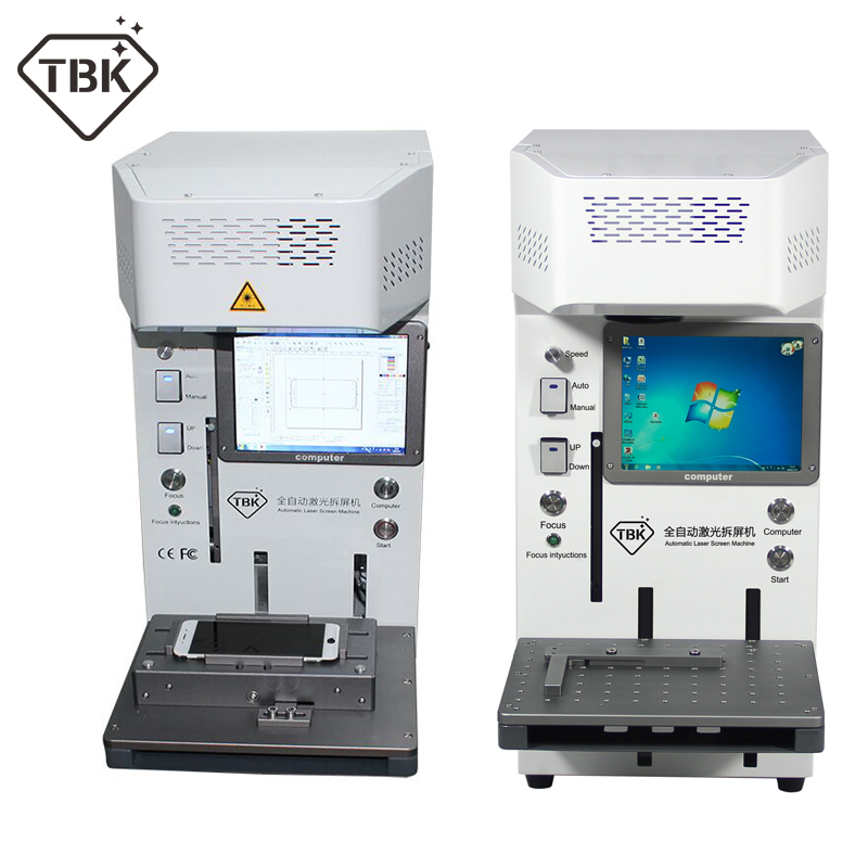 TBK 20W máquina de corte por láser para iPhone 11 XS X removedor de vidrio LCD marco reparación Universal teléfono móvil posicionamiento accesorio