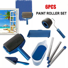 Multifunctional paint roller set professional corner brush home office wall decoration DIY handle painting set tool roller