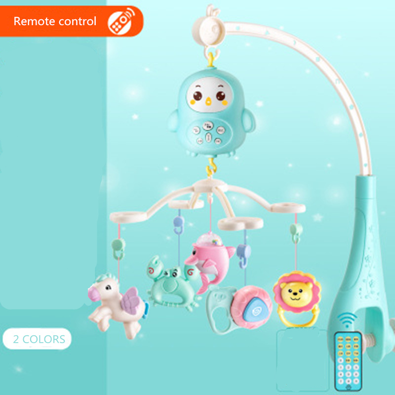 Baby Rattles Toy-Holder Crib Musical-Box Rotating-Crib Mobile-Bed Toys Projection Infant