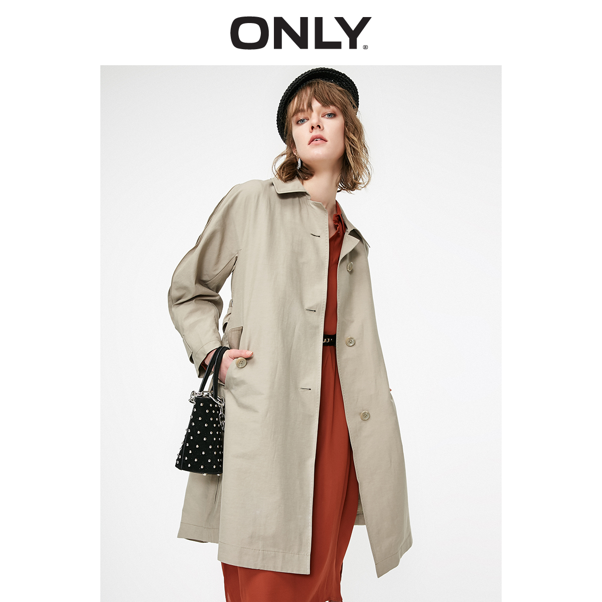 ONLY Women's  Mid-length Thin Trench Coat   119136550