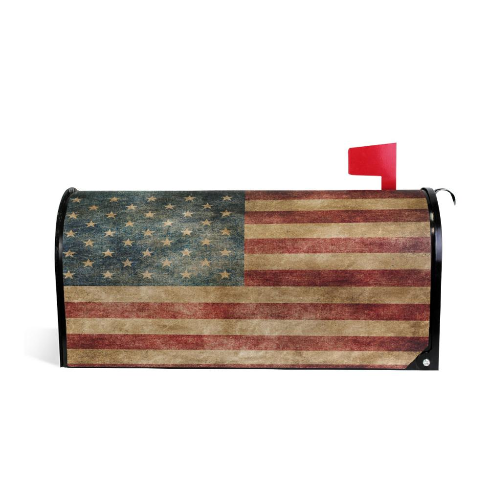 Vintage American Flag US Stars And Red Stripe Mailbox Covers Large Patriotic American Star Stripe Magnetic Mail Cover