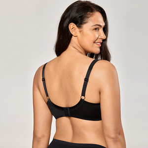 Image 3 - Women Comfort V neck Full Coverage No Padding Underwire Minimizer Bra