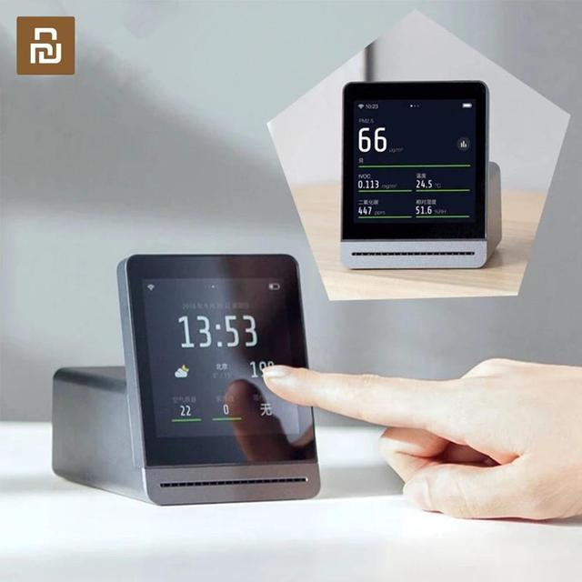 Youpin ClearGrass Air เครื่องตรวจจับ Retina TOUCH IPS หน้าจอ TOUCH ในร่มกลางแจ้ง Air Monitor สำหรับ Mijia APP Control