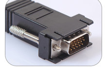 Male To Lan Cat5 Cat5e Ethernet Female Male Adapter Computer Accessories 2019 VGA To RJ45 Adapter VGA Extender Connector Gadget