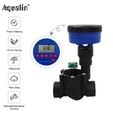 1 Station Garden Automatic Irrigation DC 3V Input Controller Water Timer Watering System Used with 9-12V DC Solenoid Valve#21873