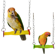 Pet Bird Standing Parakeet Hanging Swing Toy Birds Cage Pendant Chew Toy Parakeet Cockatiel Catch Cage Chewing Toys(China)